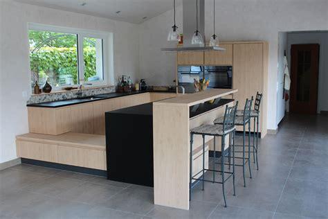 cuisine villa modele de cuisine americaine avec bar