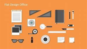 Flat Design Office Powerpoint Templates