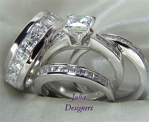 His and hers diamond wedding ring sets wedding rings for for Wedding rings his and hers sets