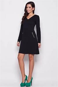 robe trapeze manches longues noire mademoiselle With robe noire trapèze