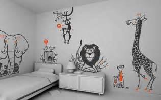 Kids Wall Decals Set - Savanna, Jungle, Safari theme (free shipping) - Pack of 8 large Children Wall Stickers for Baby Nursery or Kids Room