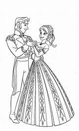 Coloring Anna Hans Princess Prince Dance Sheet Template Button Using Paper Otherwise Grab Onto Feel Could sketch template