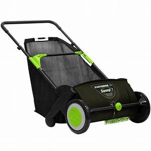 Earthwise 21 In  Sweep-it Push Lawn Sweeper With 2 61 Bushel Collection Bag-lsw70021