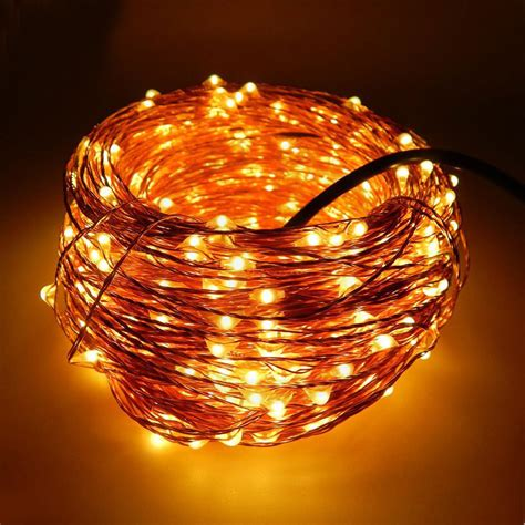 30m 300 leds 12v copper wire led string lights