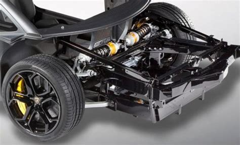 An Up-close Look At The Suspension Of The Lamborghini
