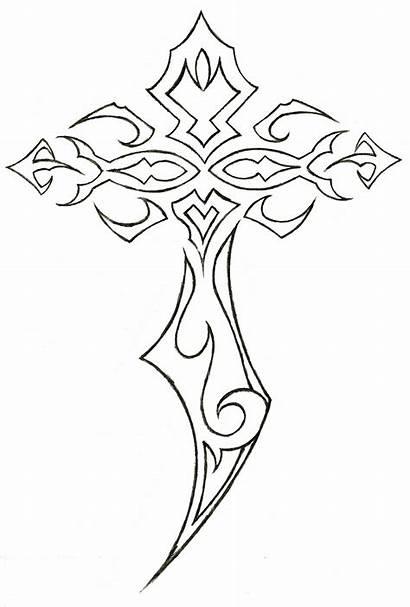 Cross Tribal Tattoo Tattoos Cool Designs Drawing