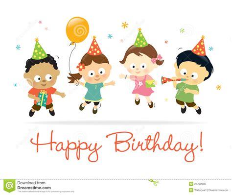 clipart compleanno bambini bambini di buon compleanno fotografia stock libera da