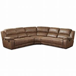 Reclining sofa sectionals sectional sofas and leather for Eurodesign brown leather 5 piece sectional sofa set