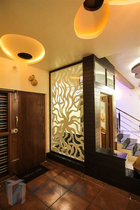 kitchen partition wall designs decor front entry door and wood flooring with decorative 5499