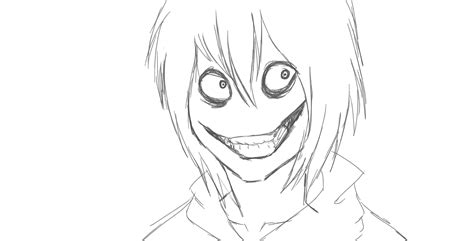 Creepypasta Jeff The Killer Coloring Pages