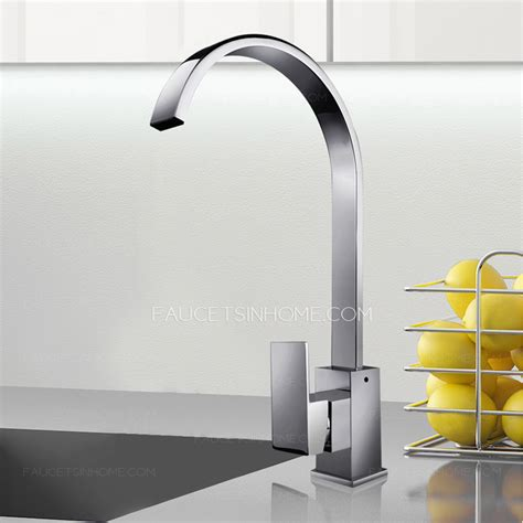 high end kitchen faucet high end waterfall single handle gooseneck kitchen faucets