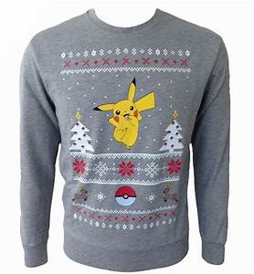 pokemon pikachu ash white christmas sweaterjumper