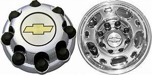 Set Of Oem Chrome Gm Chevy Silverado 8 Lug Center Caps 16 U0026quot  Aluminum 2500 Wheels