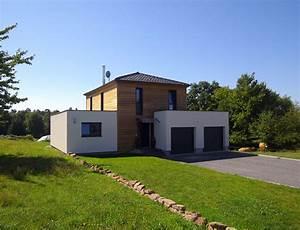 maison bois cubique a toit plat nos maisons ossatures bois With maison en bois toit plat
