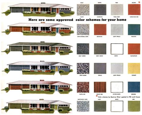 modern home interior color schemes mid century modern paint colors repinned by secret design