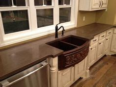how to finish kitchen cabinets 1000 ideas about stained concrete countertops on 7249