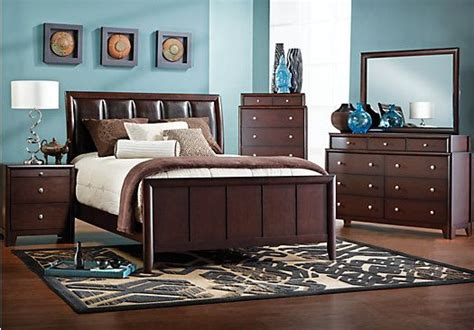 shop for a elmcrest 6 pc queen bedroom at rooms to go
