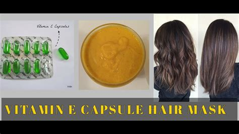 Vitamin E Capsules Benefit For Hair Mask & For Straight
