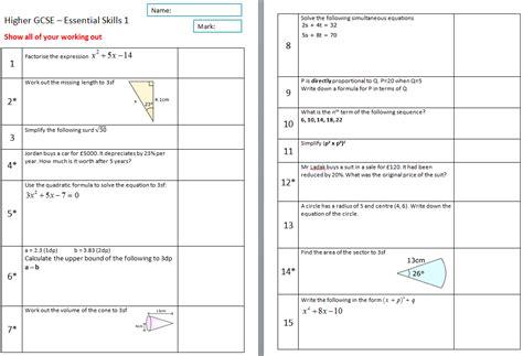 gcse maths circles worksheets area of circles scaffolded