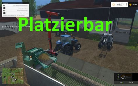 Fs 2015 Loading Table For Wood Chipper V 1.0 Platzierbar