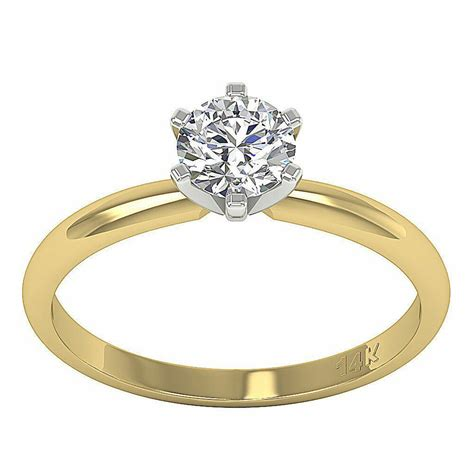 appraisal i1 h 0 80ct genuine diamond solitaire engagement ring 14kt yellow gold ebay
