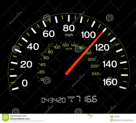 To Mph by Speedometer 110 Mph Stock Photo Image Of
