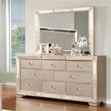 Kommode Spiegel by Lifestyle Glitzy 7 Drawer Dresser And Mirror Set Royal