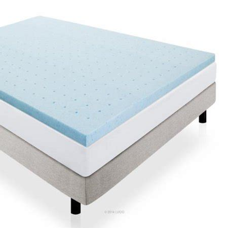 mattress topper walmart lucid 2 quot gel infused ventilated memory foam mattress