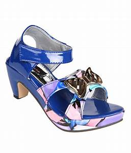 Trilokani Blue Sandals For Girls Price in India- Buy ...