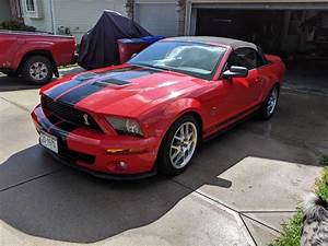 5th generation red 2008 Ford Mustang Shelby GT500 For Sale - MustangCarPlace