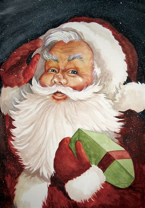 vintage santa claus old fashioned vintage santa claus print from my original