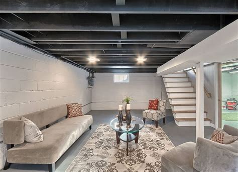 paint basement rafters unfinished basement ideas 9