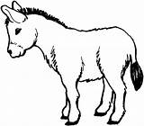 Donkey Coloring Pages Printable Donkeys Colouring Burro sketch template