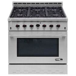 nxr entree 36 in 5 5 cu ft professional style gas range