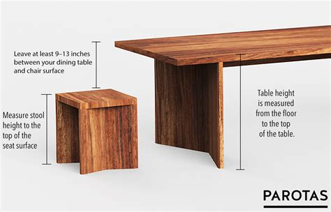 list  standard table chair heights   calculate