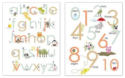 printable abc  alphabets  numbers nursery wall art