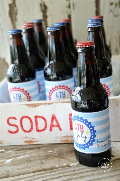 fourth  july soda bottle labels