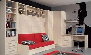 Lit Armoire Canapé : armoire lit avec canape campus jacquelin etageres angle dressing et bureau ~ Teatrodelosmanantiales.com Idées de Décoration