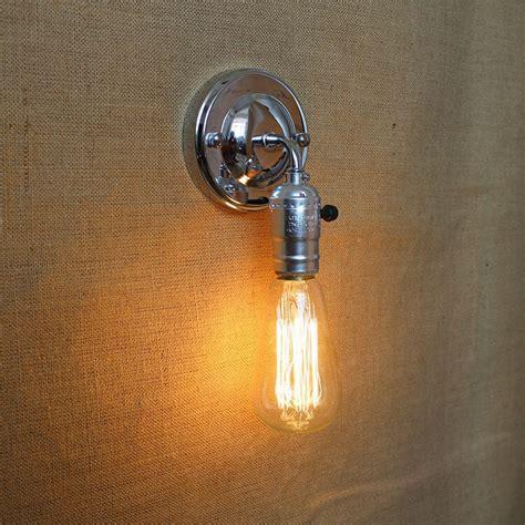 pull chain modern vintage loft adjustable  chrome metal