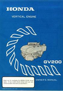 Honda Gv200 Engine Owners Manual