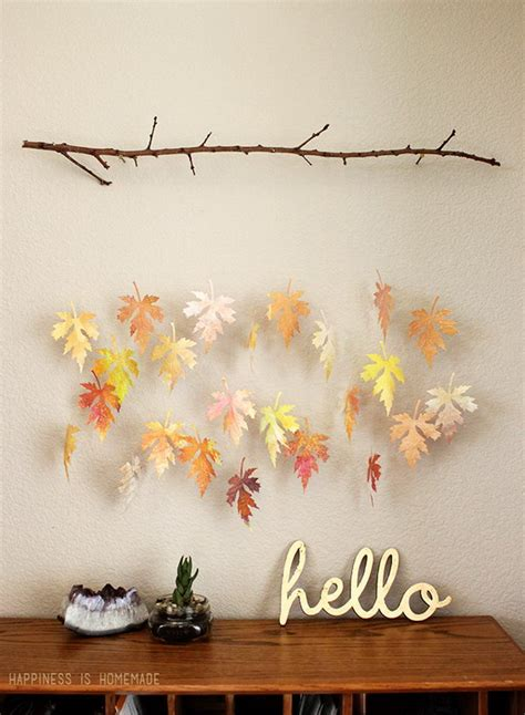 autumn diy diy crafts with fall leaves hative