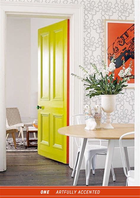 Colourful Door by Three Ways To Work Colourful Interior Doors Bright