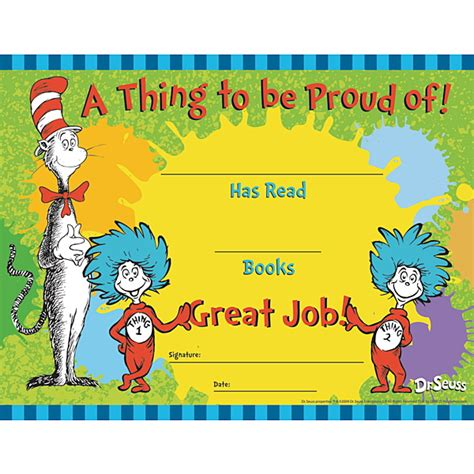 Dr Certificate Template Best Photos Of Dr Seuss Certificates Dr Seuss Hats