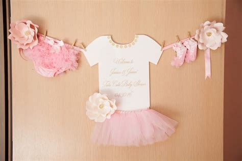 "Kara's Party Ideas Pink ""tutu Cute"" Ballerina Baby Shower"