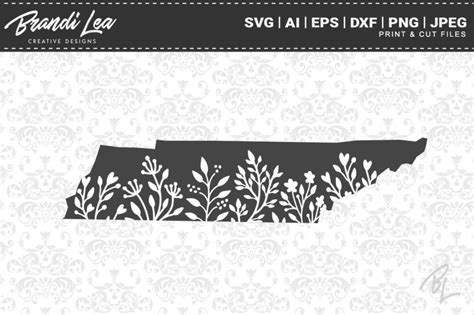 Search more high quality free transparent png images on pngkey.com and share it with your friends. Free Tennessee Floral State Map SVG Cutting Files Crafter ...