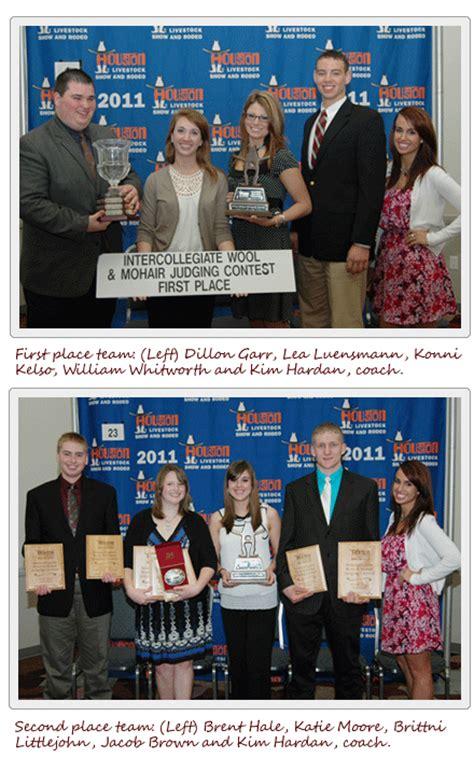 texas  university wool judging team wins