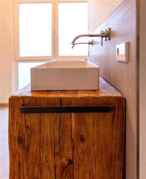 badezimmer waschtisch altholz