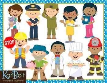 community pictures for preschoolers community helpers clip by kari bolt clip tpt 111