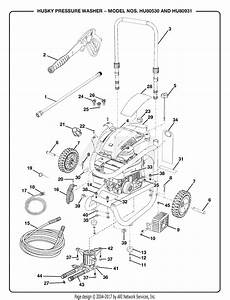 Homelite Hu80530 Pressure Washer Parts Diagram For Pressure Washer