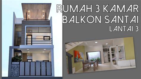 rumah  kamar lahan xm  balkon lantai  kode